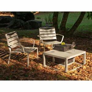 Súprava 2 záhradných kresiel a 2 stolíkov Ezeis Spring Ecotop Contrast