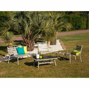 Súprava záhradného stolíka, kresiel, lavice a podnožky Ezeis Spring Lounge