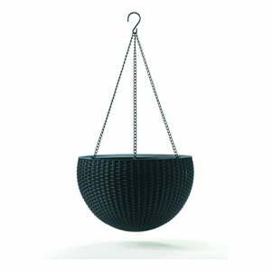 Sivý závesný kvetináč Keter