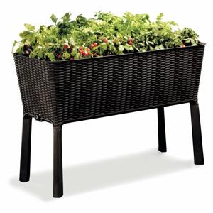 Hnedý záhradný kvetináč s podnožou Keter Easy