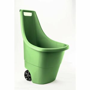 Zelený záhradný odpadkový kôš na kolieskach Keter, 50 l