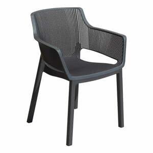 Metalickysivá záhradná stolička Keter Elisa
