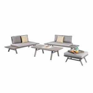 Set záhradného nábytku v sivej farbe s hliníkovou konštrukciou ADDU Celia