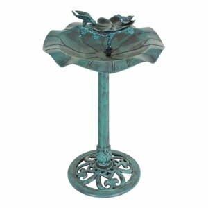 Zelené záhradné napájadlo pre vtáctvo ADDU Lotus