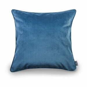 Modré obliečky na vankúš so zamatovým povrchom WeLoveBeds Jeans, 50 x 50 cm