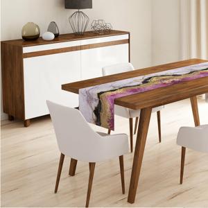 Behúň na stôl Minimalist Cushion Covers Pink Gold, 140 x 45 cm