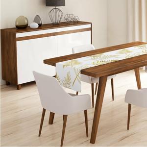 Behúň na stôl Minimalist Cushion Covers Gold Leaves, 140 x 45 cm