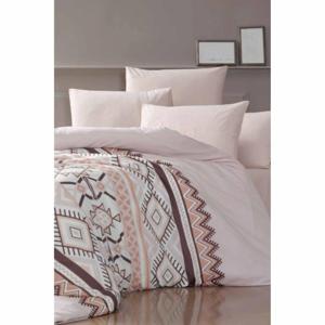 Obliečky na dvojlôžko s plachtou Pure Cotton Klim Brown, 200 x 220 cm