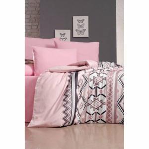 Obliečky na jednolôžko s plachtou Pure Cotton Klim Pink, 160 x 220 cm