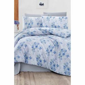 Obliečky na dvojlôžko s plachtou Pure Cotton Miray Blue, 200 x 220 cm