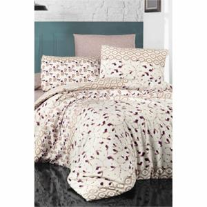Obliečky na dvojlôžko s plachtou Pure Cotton Bouquet, 200 x 220 cm