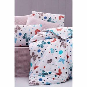 Obliečky na jednolôžko s plachtou Pure Cotton Spring, 160 x 220 cm