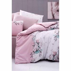Obliečky na dvojlôžko s plachtou Pure Cotton Vizyon Pink, 200 x 220 cm