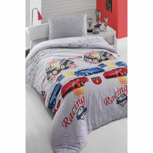Obliečky na jednolôžko s plachtou Pure Cotton Car, 160 x 220 cm