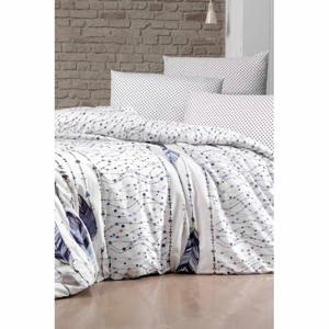 Obliečky na dvojlôžko s plachtou Pure Cotton Feather Lacivert, 200 x 220 cm