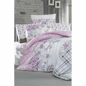 Obliečky na jednolôžko s plachtou Pure Cotton Nature Lilac, 160 x 220 cm