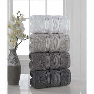 Súprava 4 uterákov Pure Cotton Gray, 50 x 85 cm
