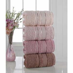 Súprava 4 uterákov Pure Cotton Powder, 50 x 85 cm