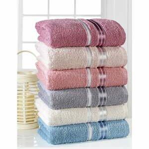 Súprava 6 uterákov Pure Cotton Sedef, 50 x 85 cm