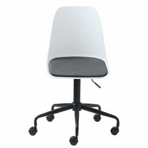 Biela kancelárska stolička Unique Furniture