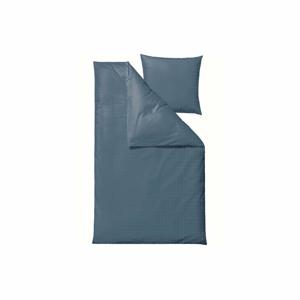 Modré damaškové obliečky na dvojlôžko Södahl Clear, 200 x 220 cm