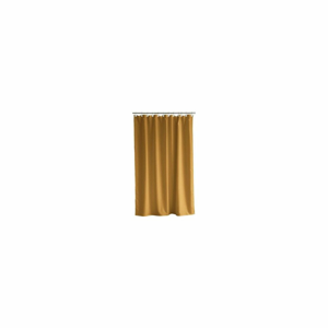 Žltý sprchový záves Södahl Leo Geometric, 180x200cm