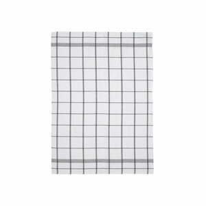 Bielo-sivá kuchynská utierka z bavlny Södahl Geometric, 50x70cm