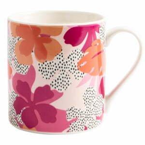 Ružový keramický hrnček Navigate Floral