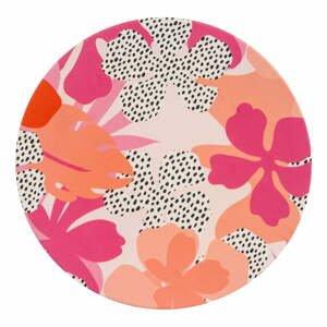 Ružovo-oranžový piknikový tanier Navigate Bamboo