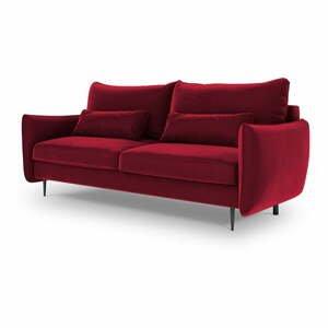 Červená rozkladacia pohovka s úložným priestorom Cosmopolitan Design Vermont