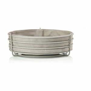 Sivý košík na pečivo s bavlnenou vložkou Zone Singles