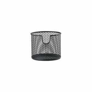 Čierny kovový úložný košík Zone Inu, ø 10 cm