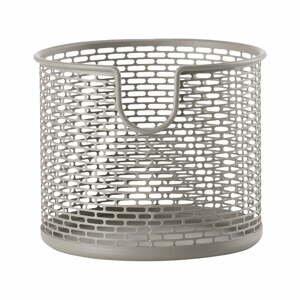 Sivý kovový úložný košík Zone Inu, ø 10 cm