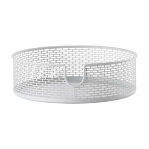 Biely kovový úložný košík Zone Inu, ø 20 cm