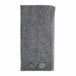 Sivý uterák s prímesou ľanu Zone Inu, 100 x 50 cm