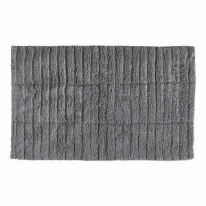 Sivá bavlnená kúpeľňová predložka Zone Tiles, 80 x 50 cm