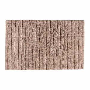 Ružová bavlnená kúpeľňová predložka Zone Tiles, 80 x 50 cm