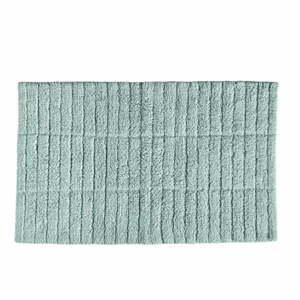 Svetlozelená bavlnená kúpeľňová predložka Zone Tiles, 80 x 50 cm