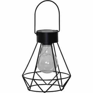 Čierny LED lampáš Best Season Eddy, výška 15,5 cm