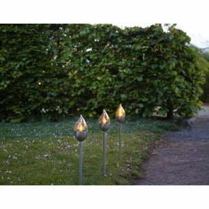 Súprava 3 vonkajších svetelných LED dekoracií Best Season Olympus, výška 40 cm