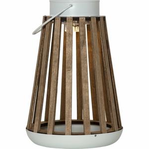 Hnedý LED lampáš Best Season Catania, výška 28 cm