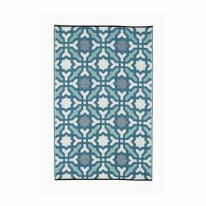 Modro-sivý obojstranný vonkajší koberec z recyklovaného plastu Fab Hab Seville, 90 x 150 cm