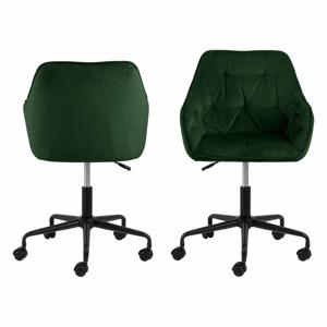 Zelená kancelárska stolička so zamatovým povrchom Actona Brooke