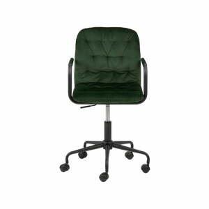 Zelená kancelárska stolička so zamatovým povrchom Actona Wendy