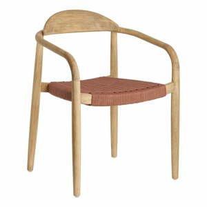 Záhradná stolička z eukalyptového dreva s opierkami La Forma Glynis