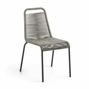 Sivá záhradná stolička s oceľovou konštrukciou La Forma Glenville