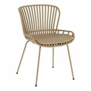Béžová záhradná stolička s oceľovou konštrukciou La Forma Surpik