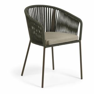Záhradná stolička so zeleným výpletom La Forma Yanet