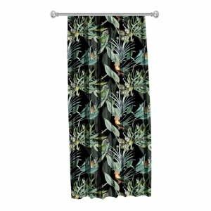 Čierny záves Mike & Co. NEW YORK Jungle Birds, 140 x 270 cm