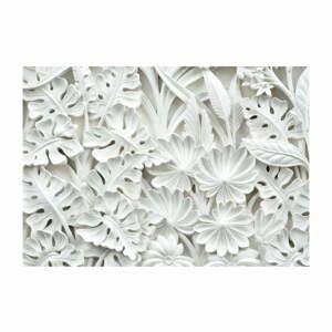 Biela veľkoformátová tapeta Artgeist Alabaster Garden, 200 x 140 cm